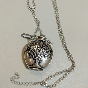 Silver Tree Of Life Urn Necklace